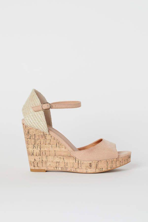 a1b37d59eee H&M Wedge-heeled Sandals - Orange in 2019 | Products | Wedges, Black ...