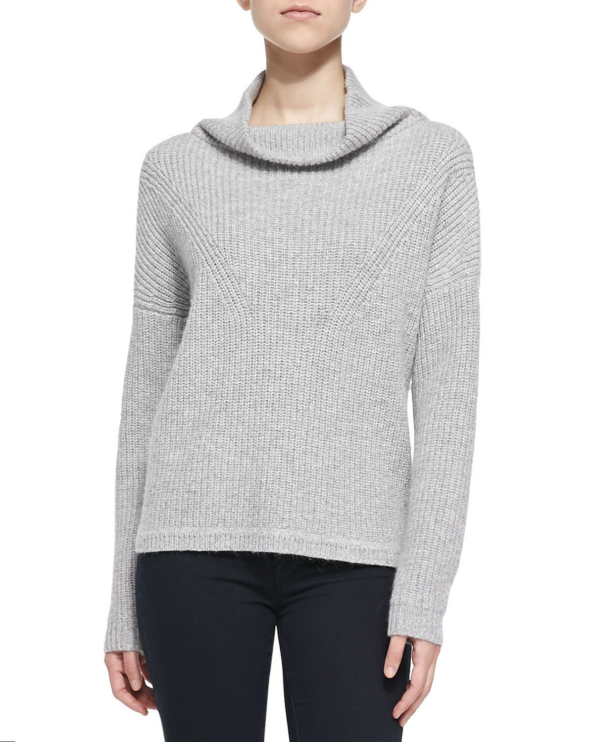 French Connection Honeycomb-Knit Mock Turtleneck Sweater, Light ...