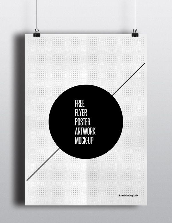 Free Flyer Poster Mock Up By BlueMonkeyLab Via Behance