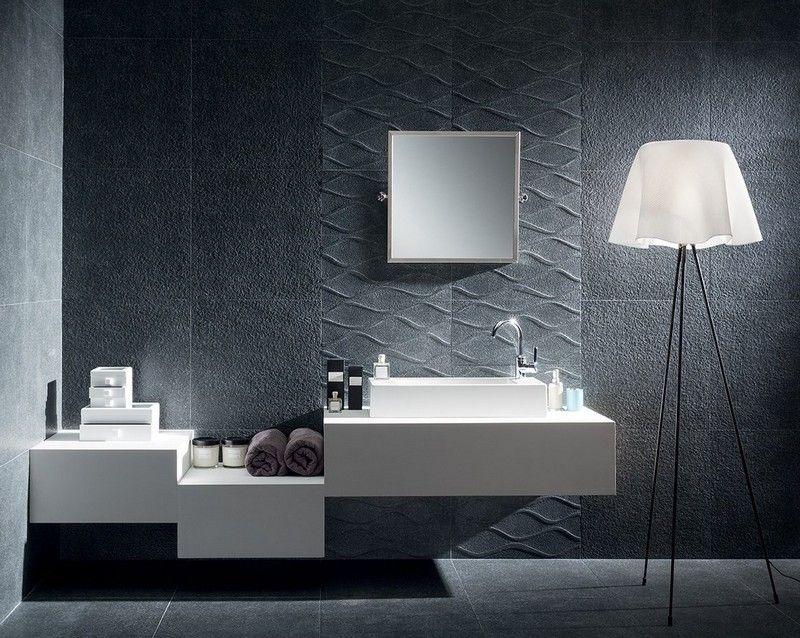 Badezimmer mit fliesen in betonoptik verlegen k che - Kreative badideen ...