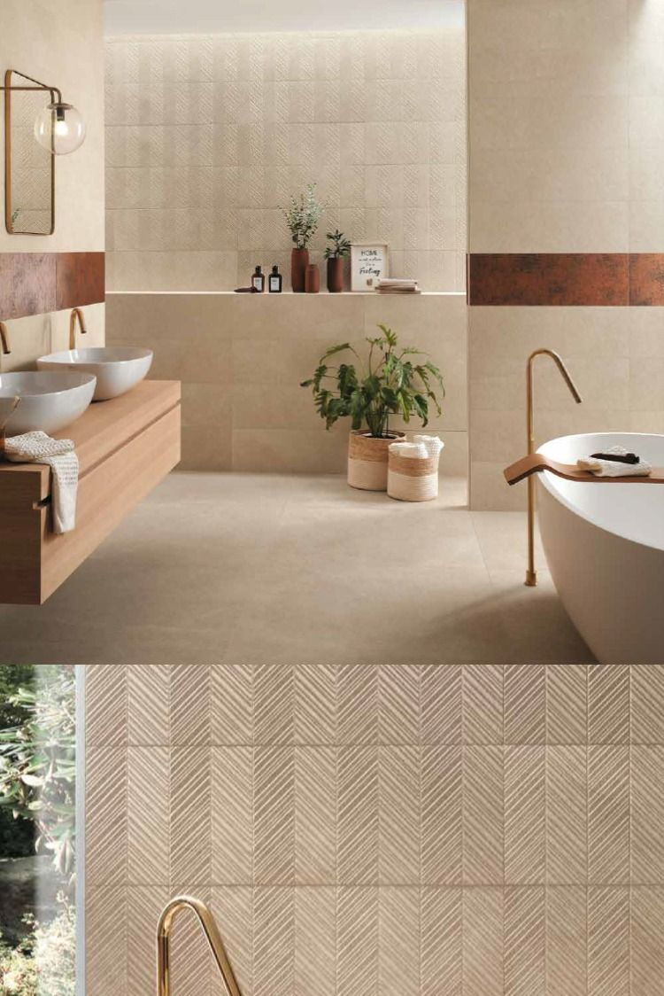 Texture And Shine Textured Tiles Bathroom Beige Tile Bathroom Modern Bathroom Tile