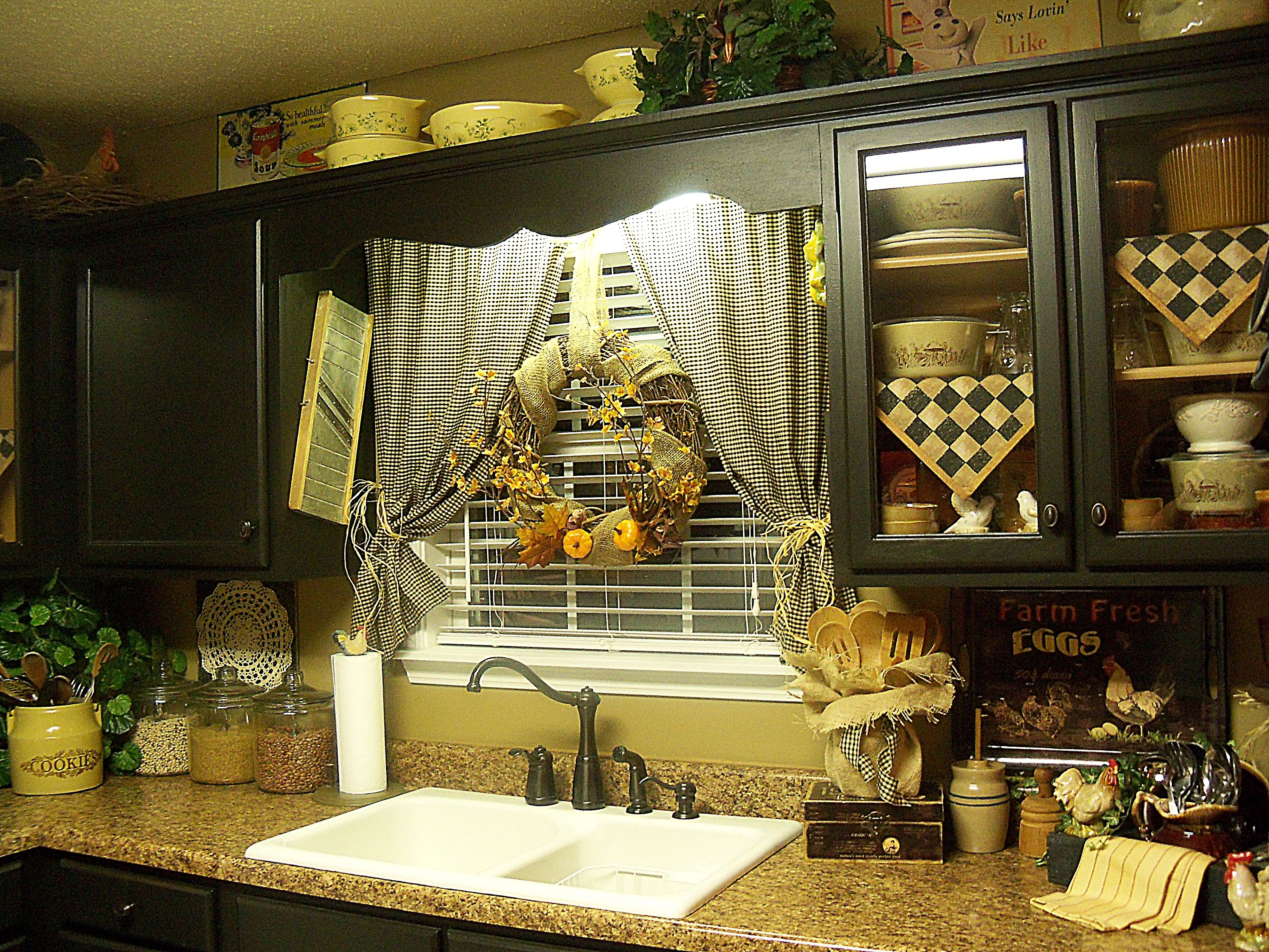 Image Result For Diy Kitchen Window Treatments Ideas In