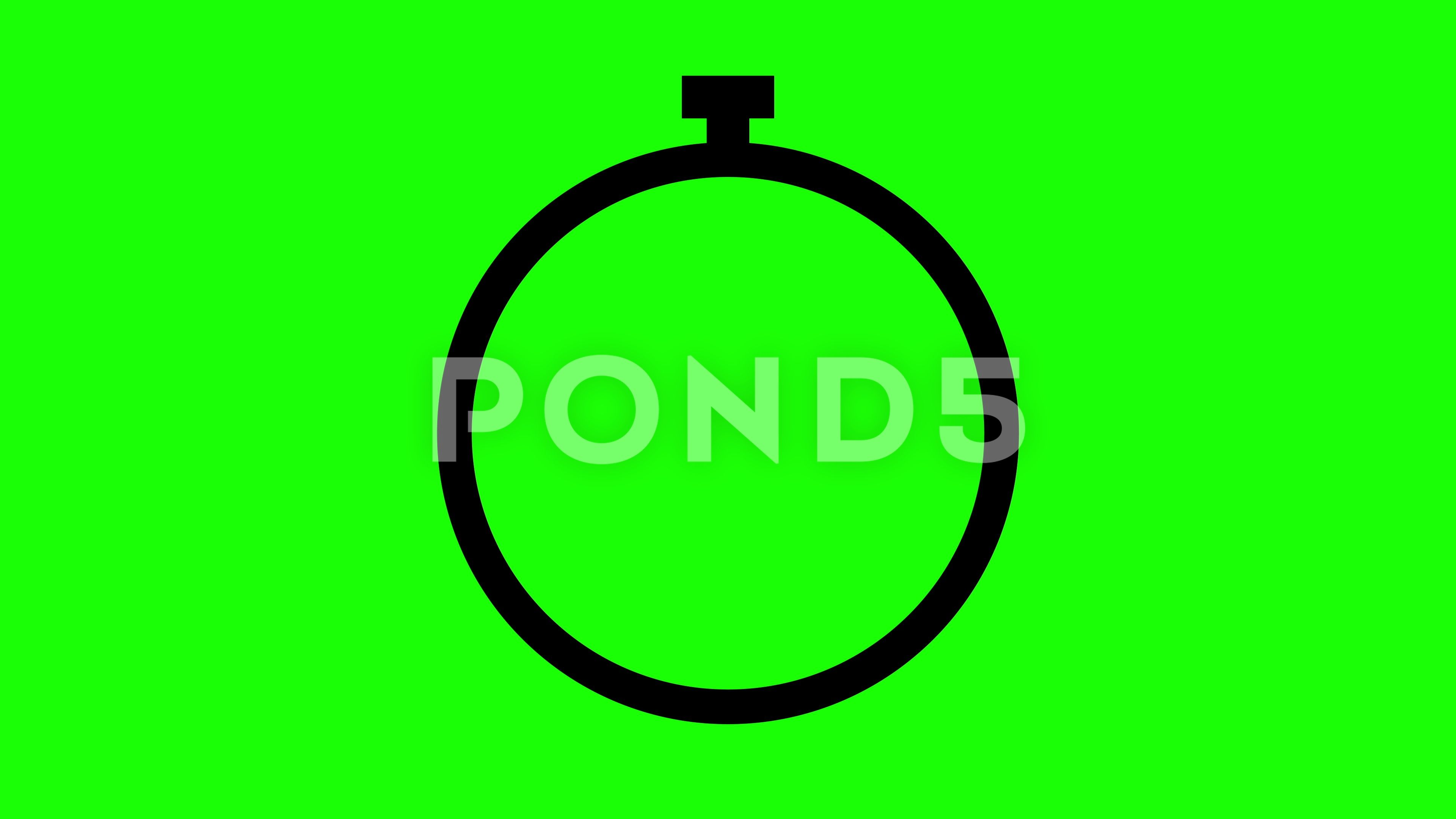Green screen icon black chronometer watch flat animation Stock Footage blackchronometericonGreen