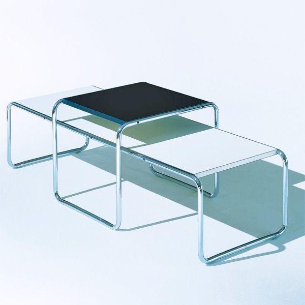 marcel breuer set of 2 laccio low tables - Marcel Breuer Tisch