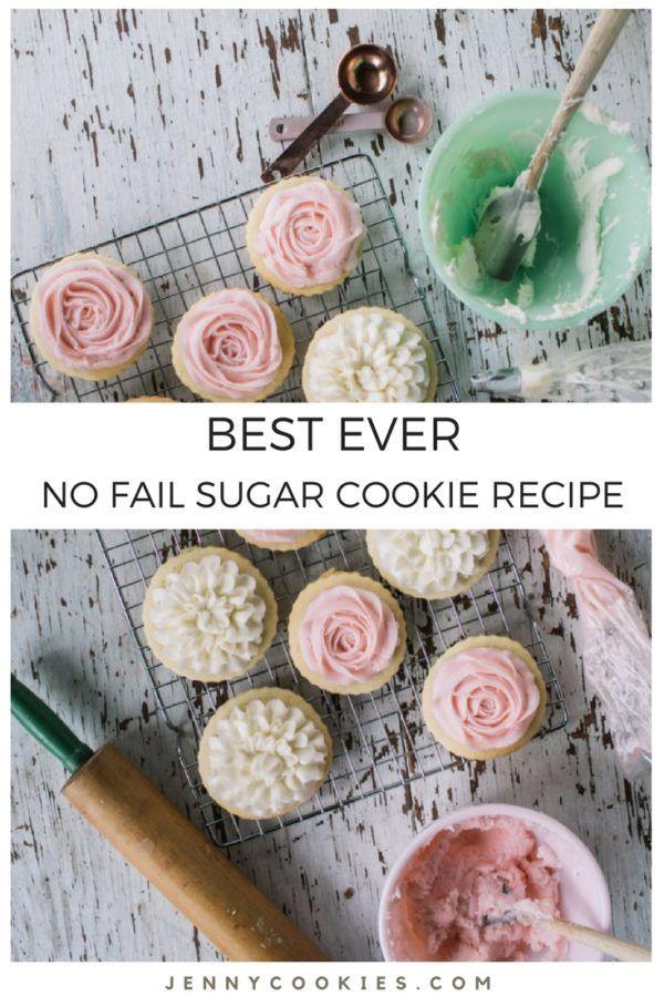 Best Sugar Cookies Ever. The Jenny Cookies Recipe #sugarcookies