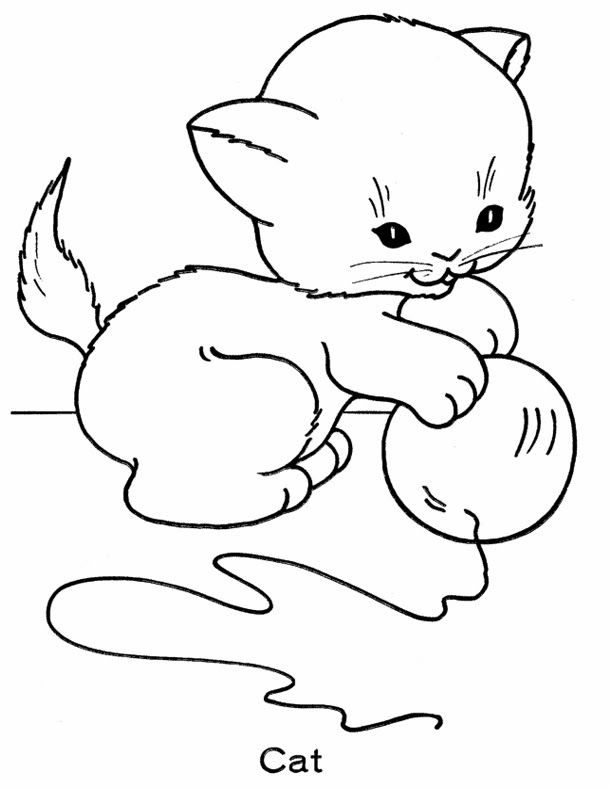 Printable Cat Coloring Pages Online. Download free Kitten Coloring ...