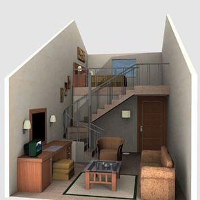 interior house also loft in small design rh pinterest