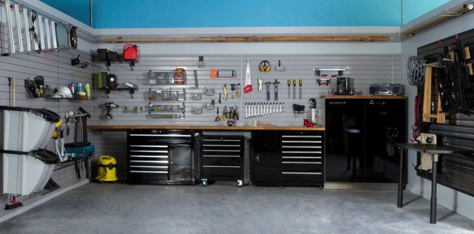 Homegarage bricolage et m canique atelier pinterest for Amenager son garage en bureau