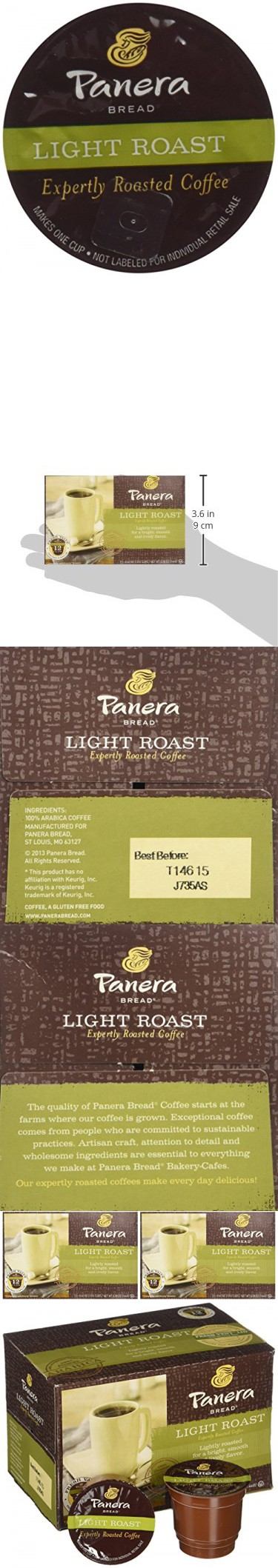 Panera Bread Coffee Box Endearing Panera Bread Kcup Single Serve Coffee 12 Count 508Oz Box Pack Inspiration Design
