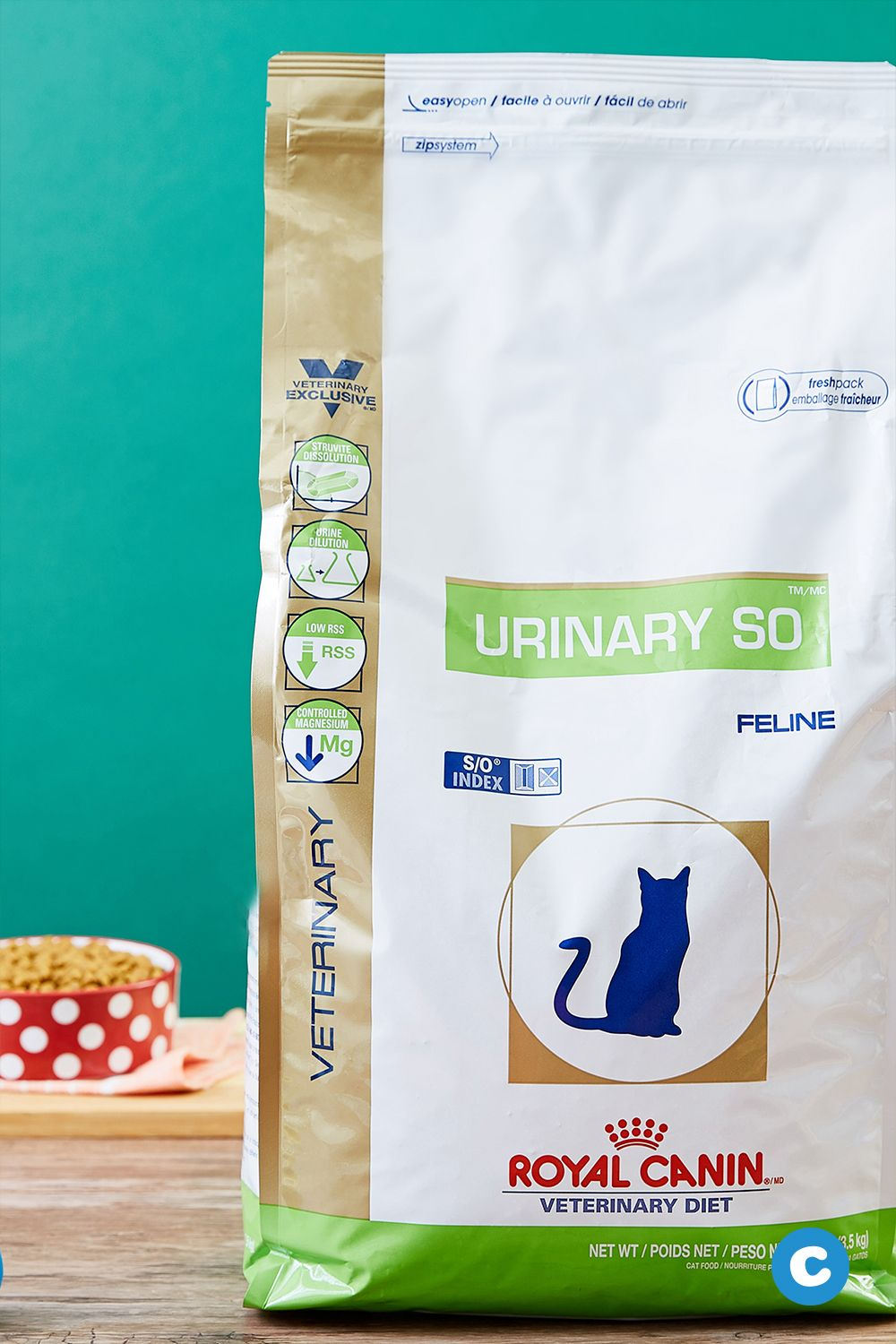 Formulated for adult cats with urinary health issues