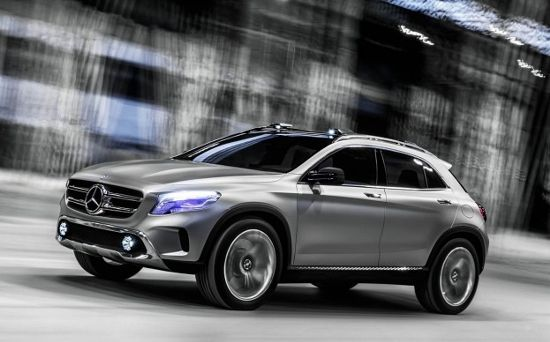 Mercedes Benz Gla Concept Suv To Sport Laser Projector Headlamps