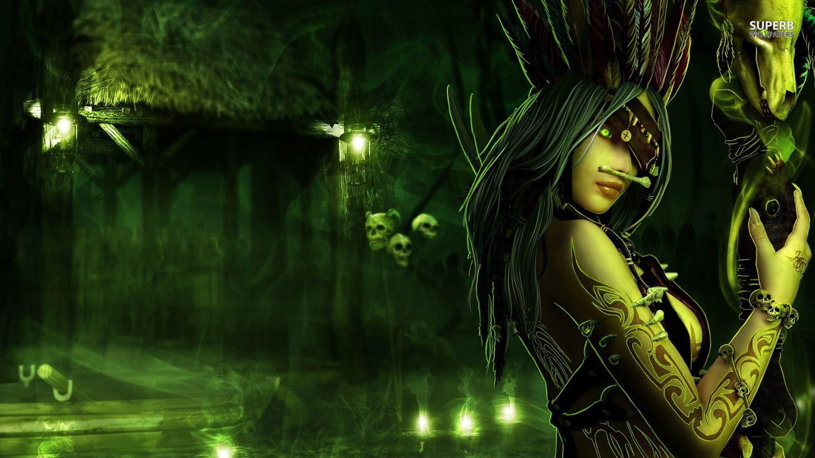 Voodoo Priestess Wallpaper Witch Pictures Witch Art Dark Witch