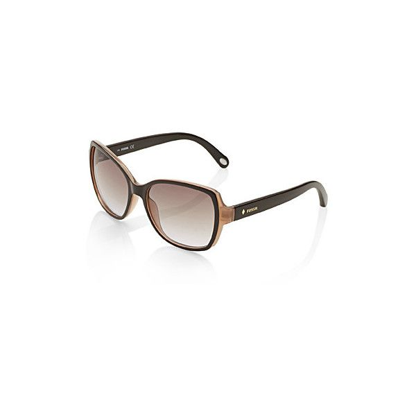 692686a3b2 Fossil Carlson Square two-tone sunglasses ( 51) ❤ liked on Polyvore  featuring accessories