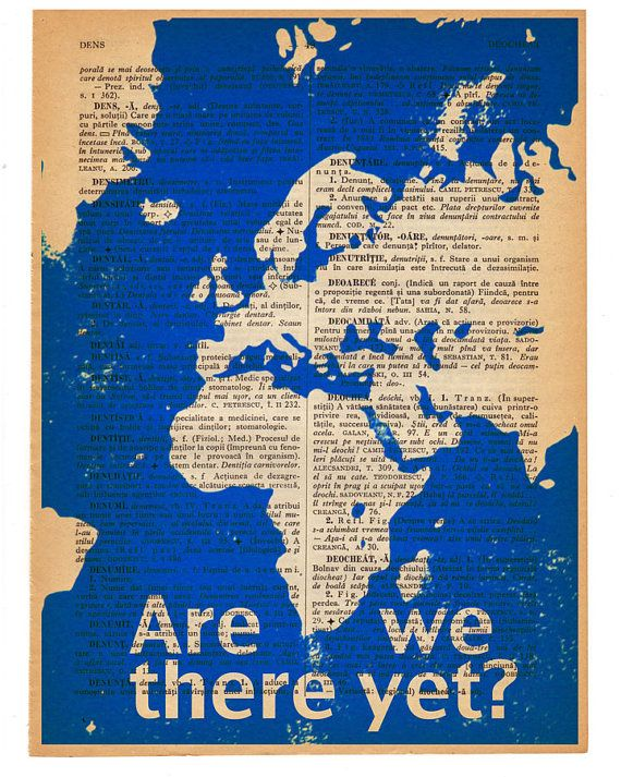 We are here europe and africa geek wall art print vintage page art we are here europe and africa geek wall art print vintage page art print africa artboutique ideasinspirational travel quotesold mapschild gumiabroncs Choice Image