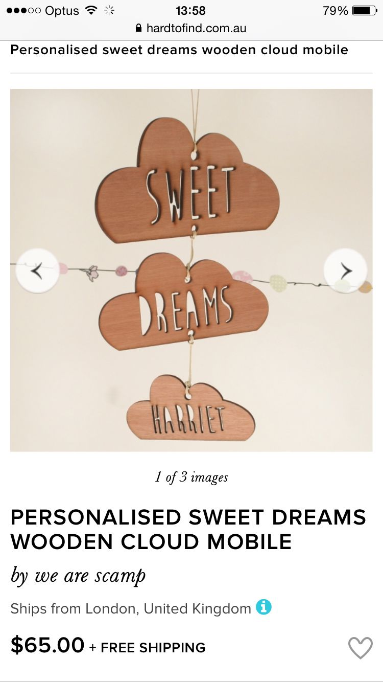 Personalized Sweet Dreams cloud mobile