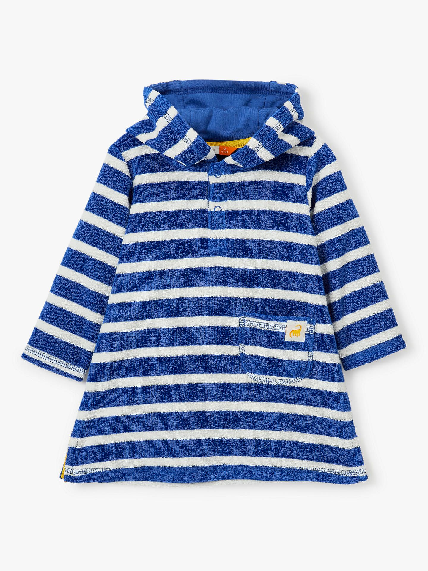 ea1b52d2 BuyJohn Lewis & Partners Baby Stripe Hooded Towel Cover Up, Blue, 2-3