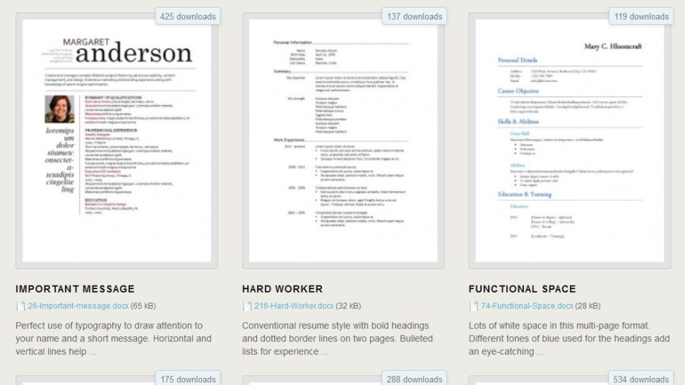 Download 275 Free Resume Templates for Microsoft Word Cosas - microsoft word 2010 resume template