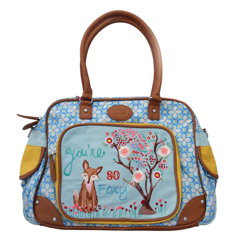 Baby Bag mit süßer Fuchs Stickerei von Room Seven / Wickeltasche / Diaperbag Foxy <3