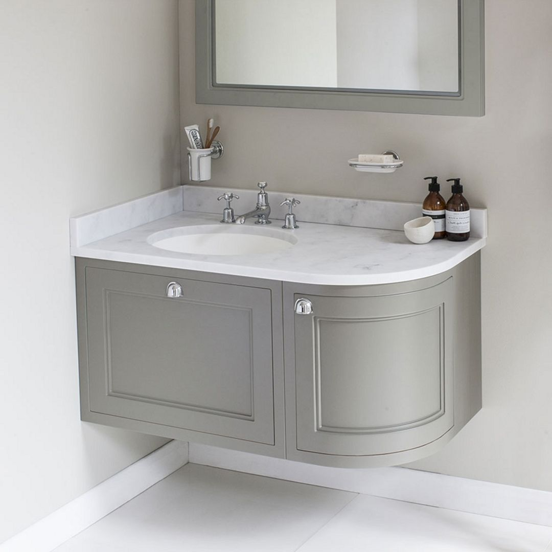 25 Lovely Corner Bathroom Sink Ideas For Small Bathroom Inspiration Freshouz Com Bathroom Sink Units Corner Sink Bathroom Corner Vanity Unit