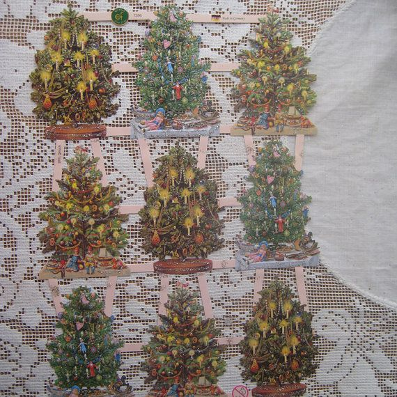 Glittered Christmas Scraps Made In Germany Die by 32NorthSupplies
