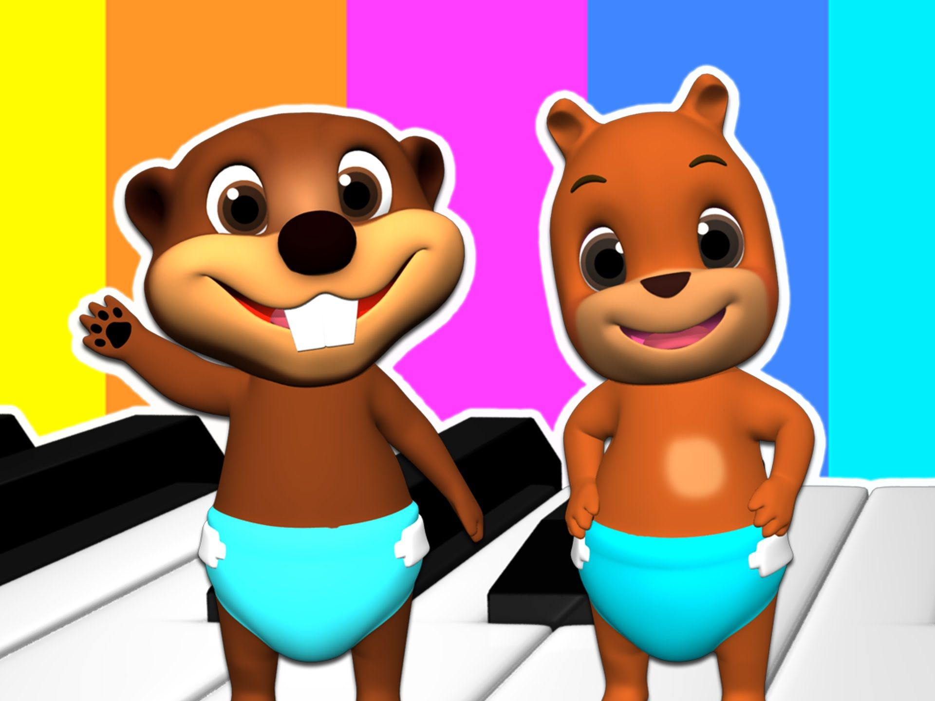 Play The Alphabet On The Piano Teaching The Abcs To Kids Alphabet Learning Song Kindergarten Baby Beaver Learning The Alphabet Piano Teaching