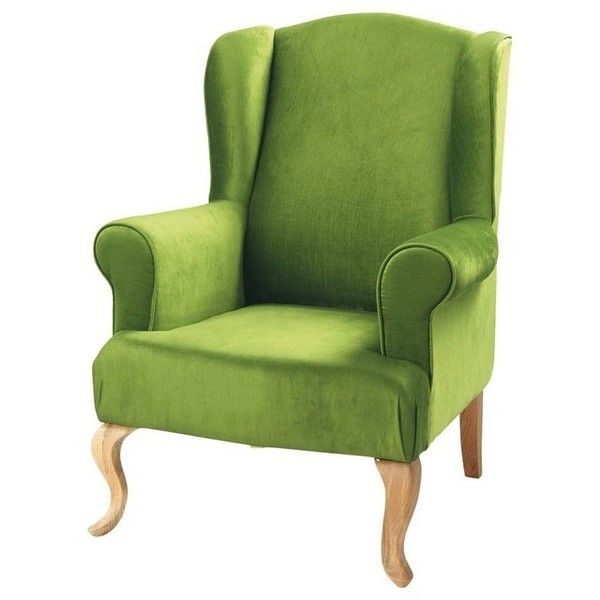 Charlie Armchair, Green - contemporary - armchairs - - by Maisons du... ❤ liked on Polyvore