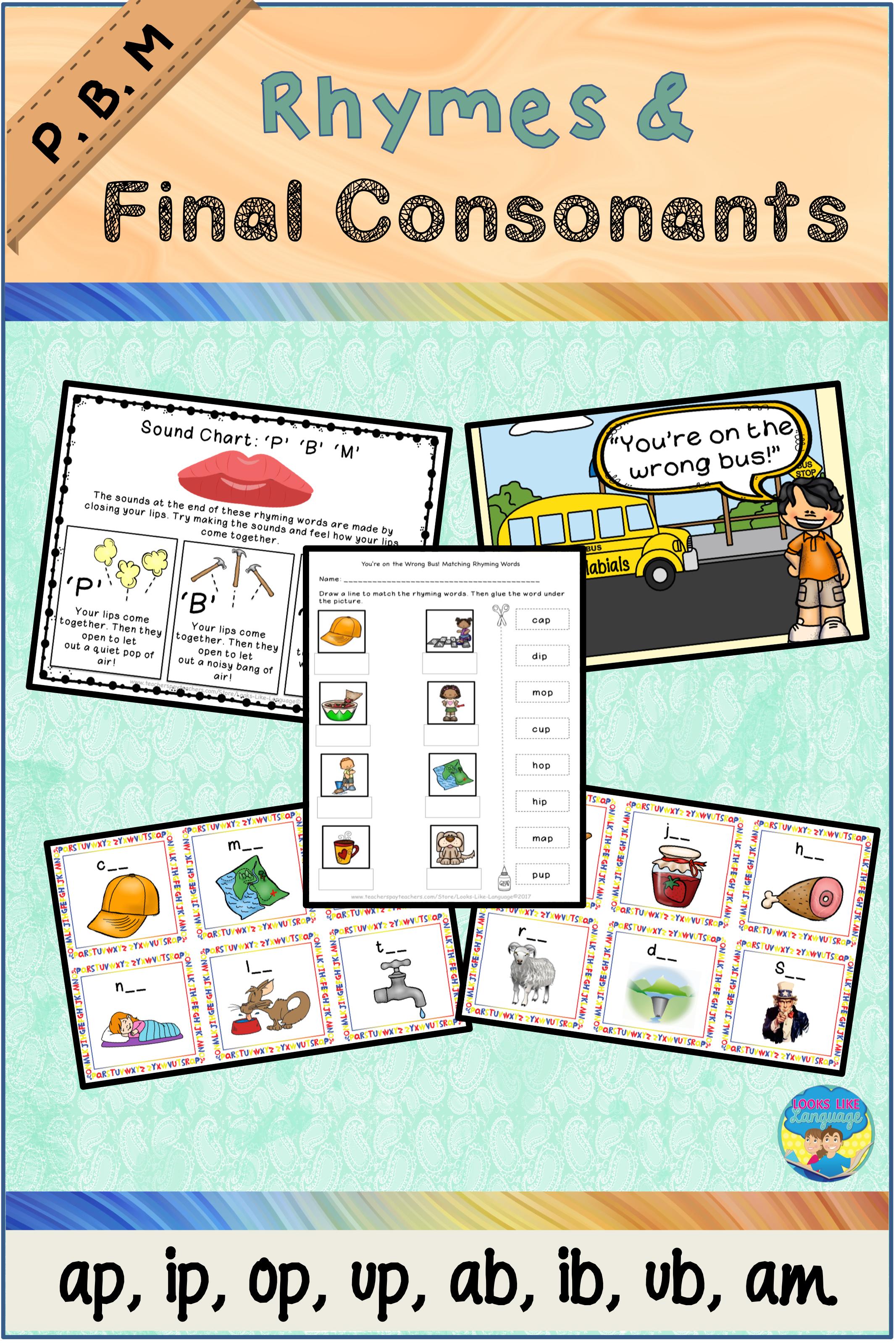 Rhyming Activities For Kindergarten