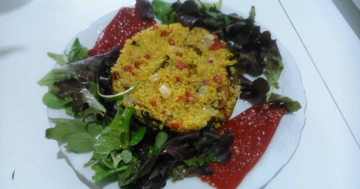 Fabulosa receta para Quinoa salteada con setas.