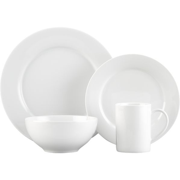 Crate and Barrel Aspen set -- 8 each of dinner plate salad plate and bowl -- 4 of low bowl  sc 1 st  Pinterest & Aspen Dinnerware | Aspen Crates and Dinnerware