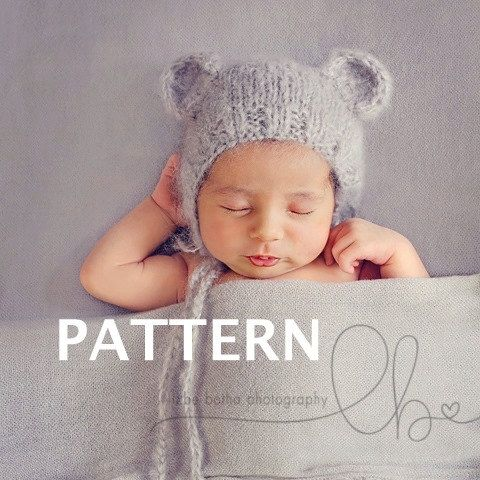 Easy Baby Bear Bonnet Knitting Pattern Newborn Knitting Pattern