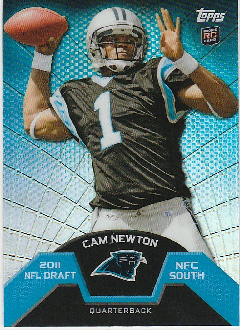 2011 topps rookie refractors tmb1 cam newton panthers