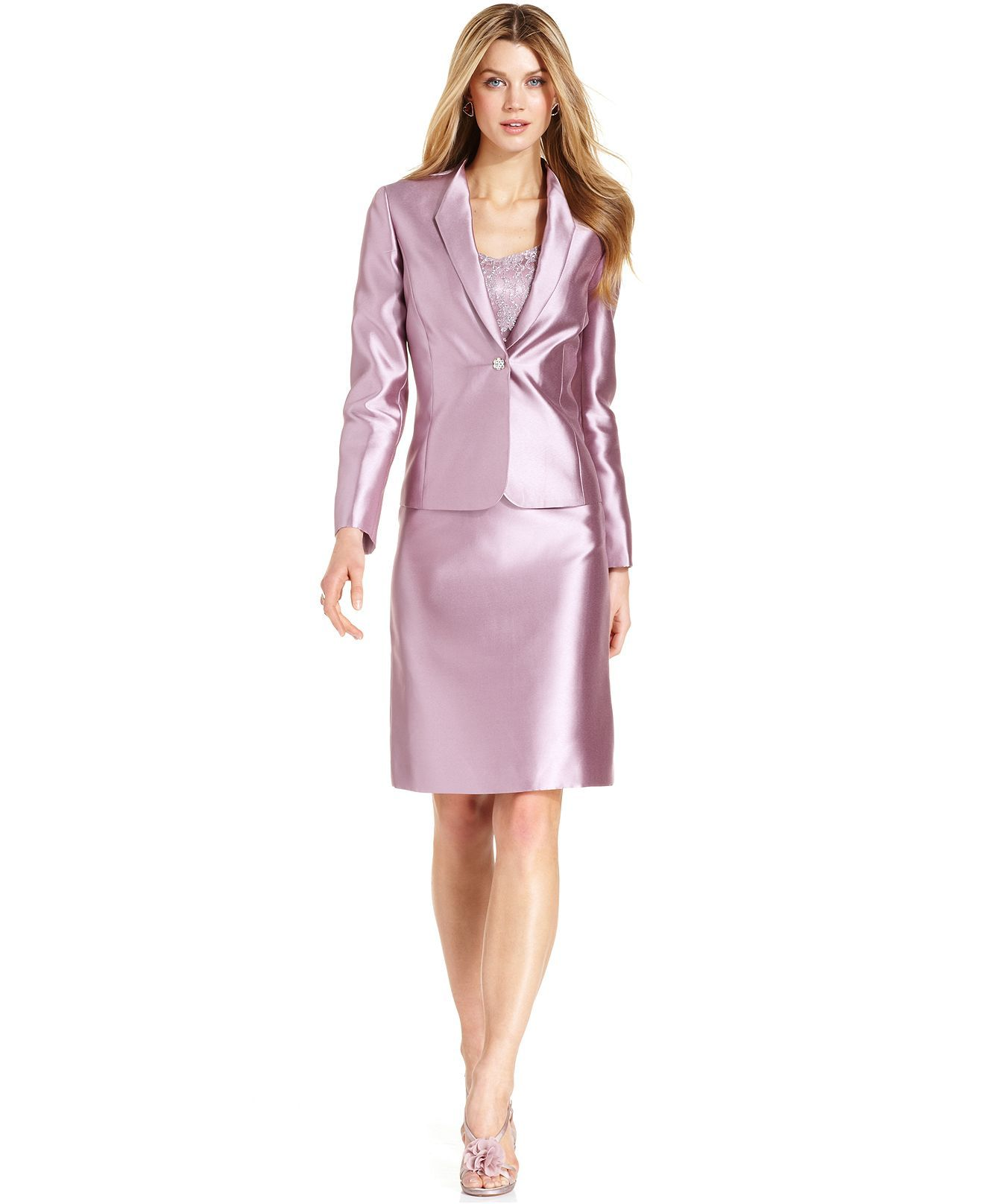 814321464dab Tahari ASL Lilac Suit | Women's Suits | Trendy suits, Skirt suit ...
