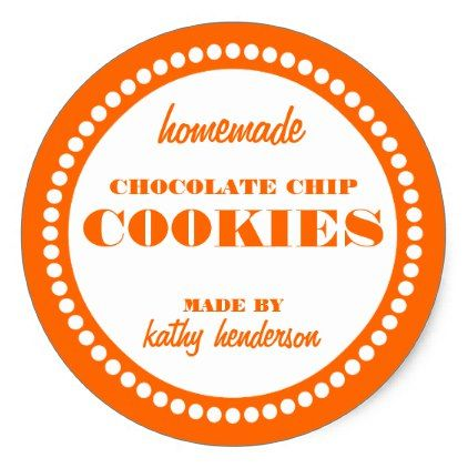 Round Dot Chocolate Chip Cookie Label Template | template ...