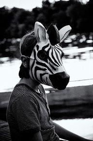 ZEBRA ! | Black&White | Zebra mask, Masks art, Animal masks