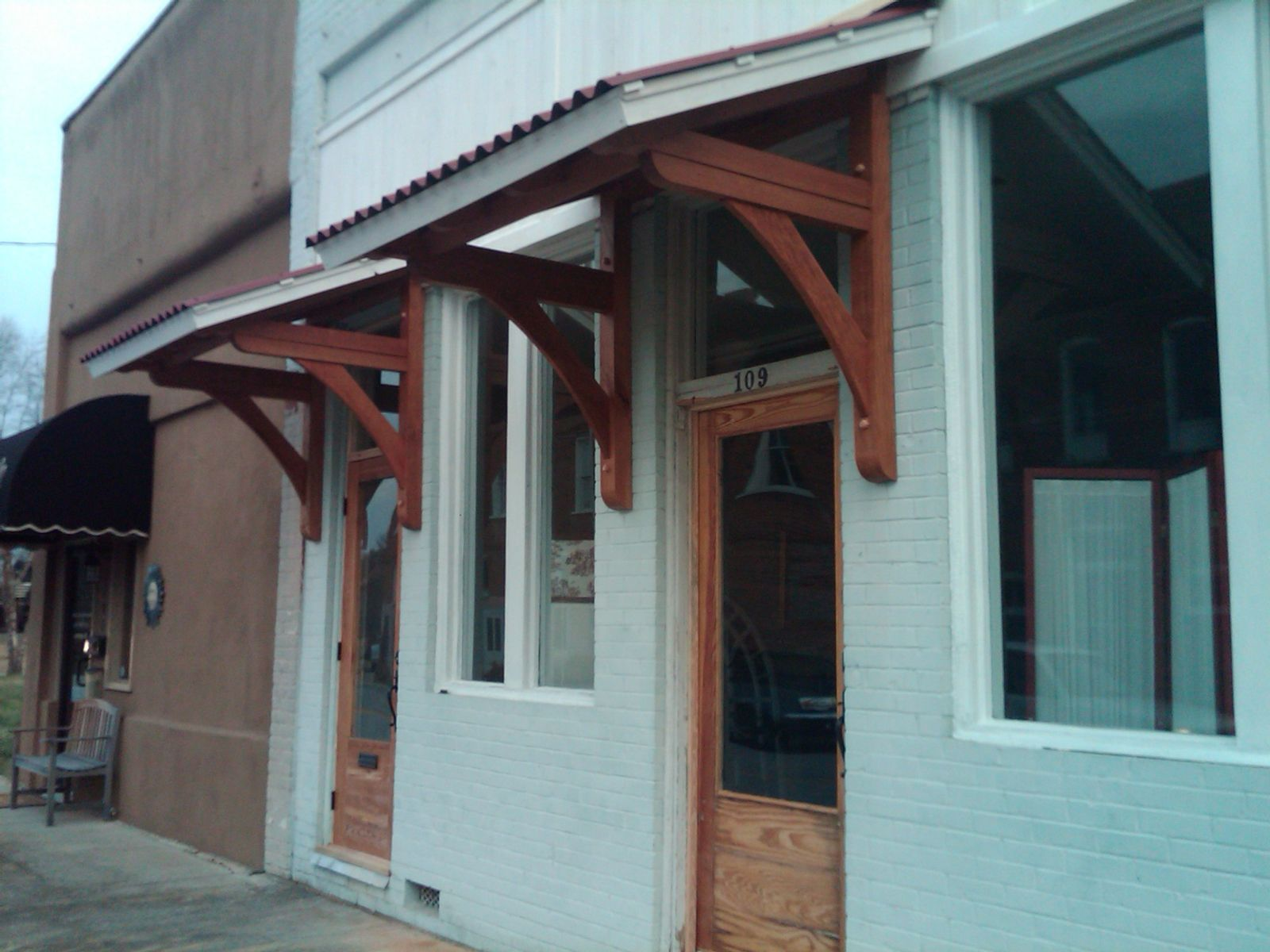 awnings for doors | Handmade Office Door Awnings by ...