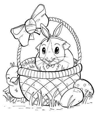 Kleurplaat Pasen Kleurplaten Pasen Pinterest Easter Baskets