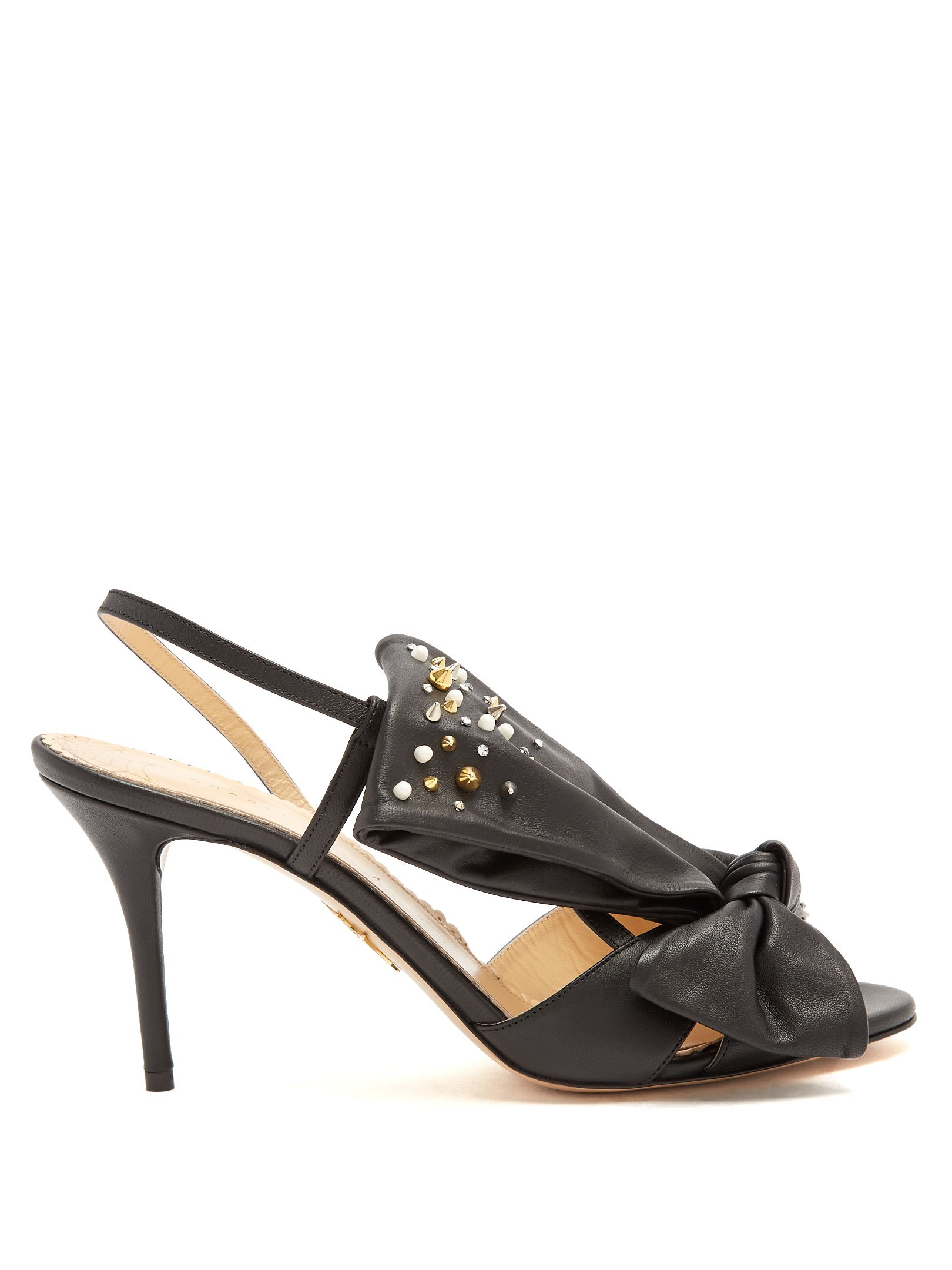 Buy Cheap Original Sale View Charlotte Olympia Georgina bow-embellishment leather sandals F1q1Ec