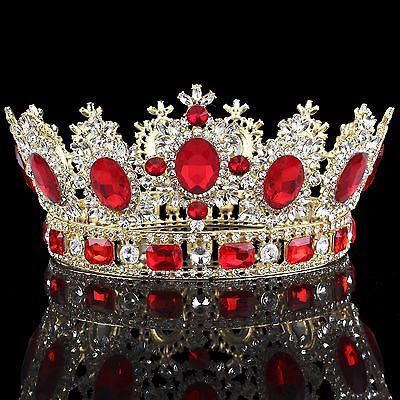 Details about Vintage Baroque Bridal Wedding Black Crystal Crown Tiaras Prom Headbands Jewelry #crowntiara