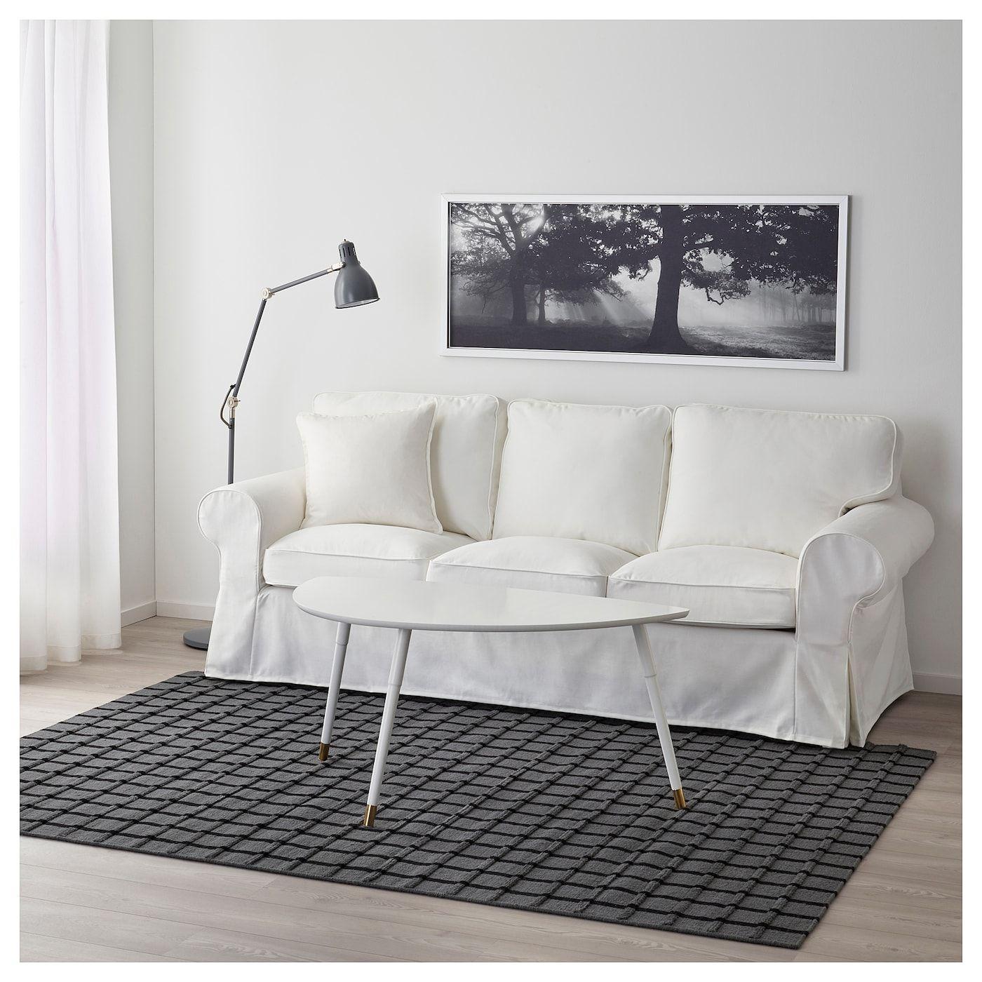 IKEA FOULUM Handmade Gray Gray, Black Rug, flatwoven