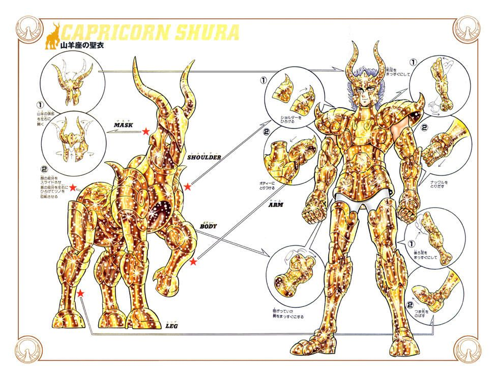 The Capricorn Cloth is the cloth of the guardian of the tenth temple of the  Sanctuary: the house of Capricorn. It … in 2020 | Saint seiya, Anime  character design, Capricorn