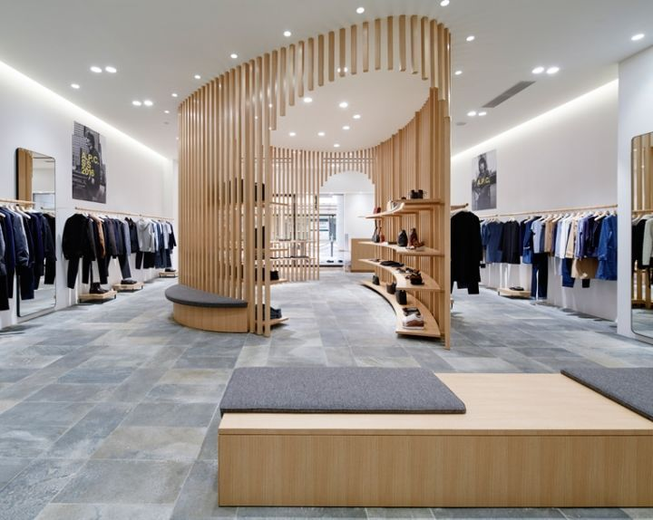 1c16bfb22006f Vertical Latticed Retail Interiors - The APC Kyoto Store on Shijo Dori Gets  a Modern Overhaul (GALLERY)