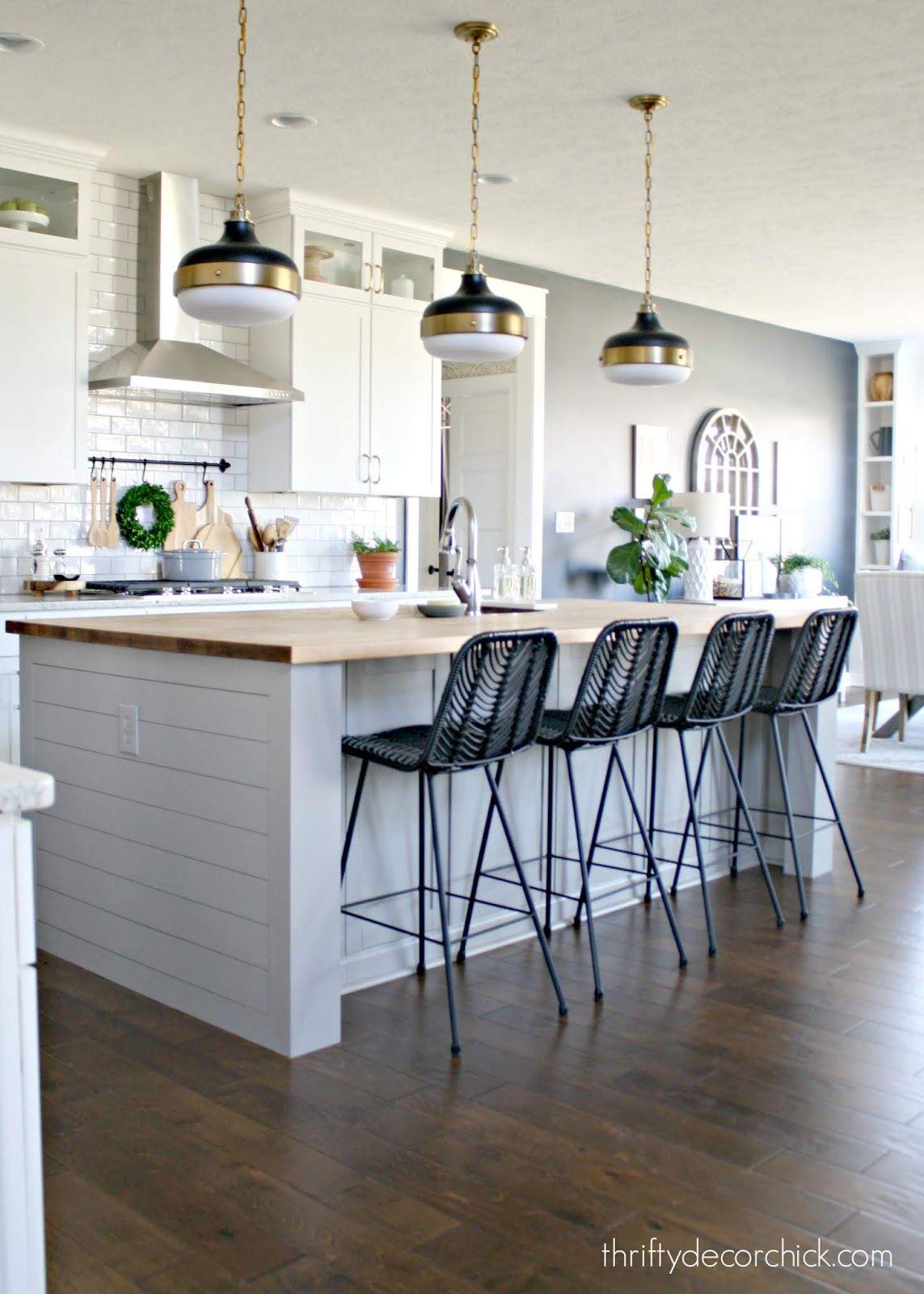 pretty kitchen island transformation for less than 100 stools for kitchen island kitchen on kitchen island ideas black id=76704
