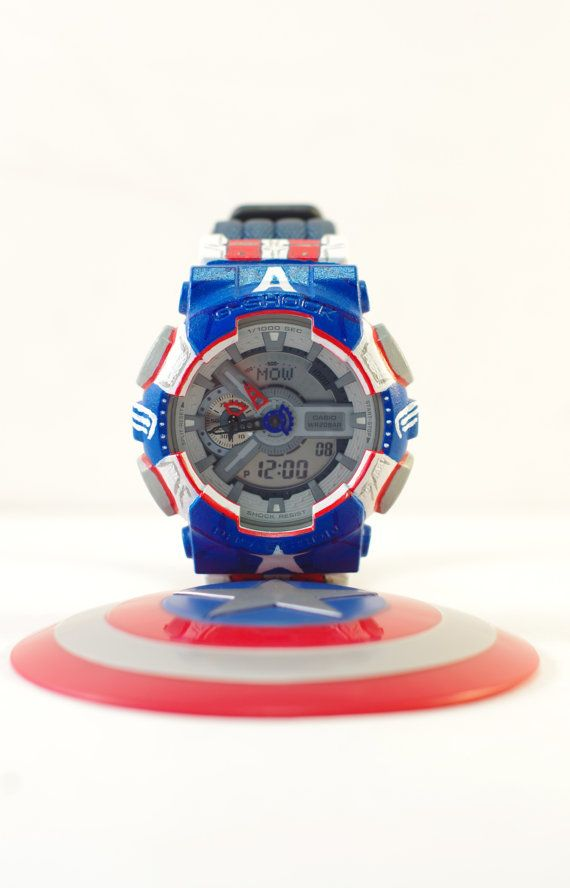 Men 39 s watch custom captain america winter soldier casio g shock ga110 dw5600 captain america for Winter watches