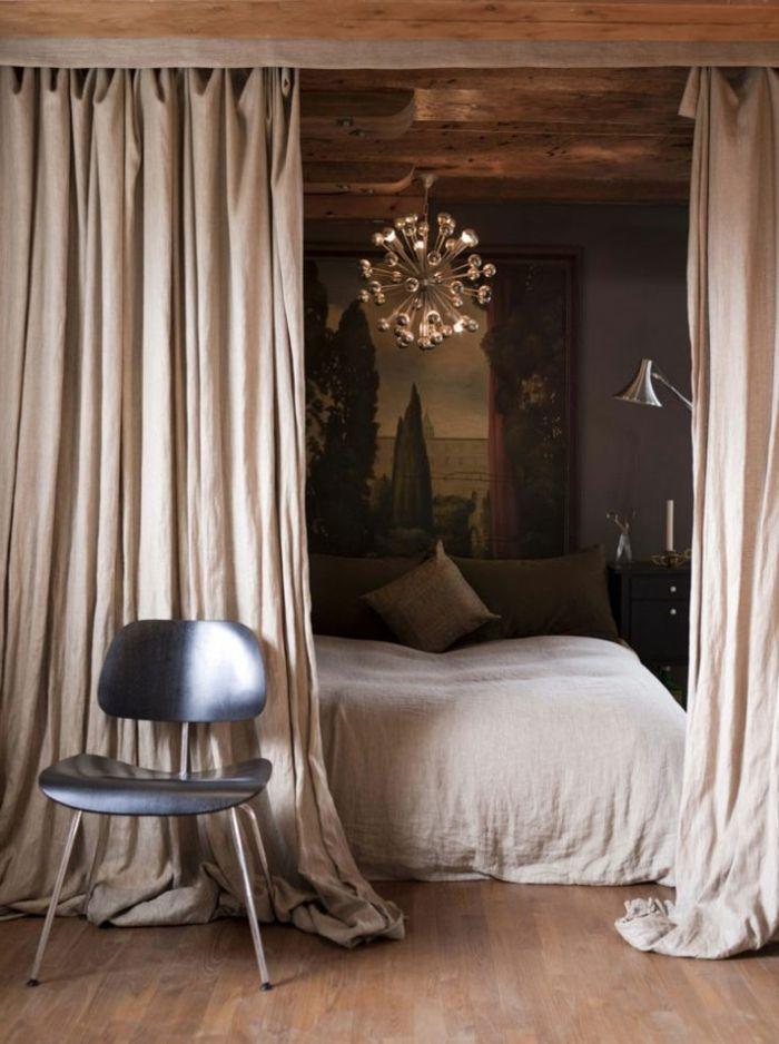 Le rideau en lin - une belle décoration pour l\'intérieur - Archzine ...
