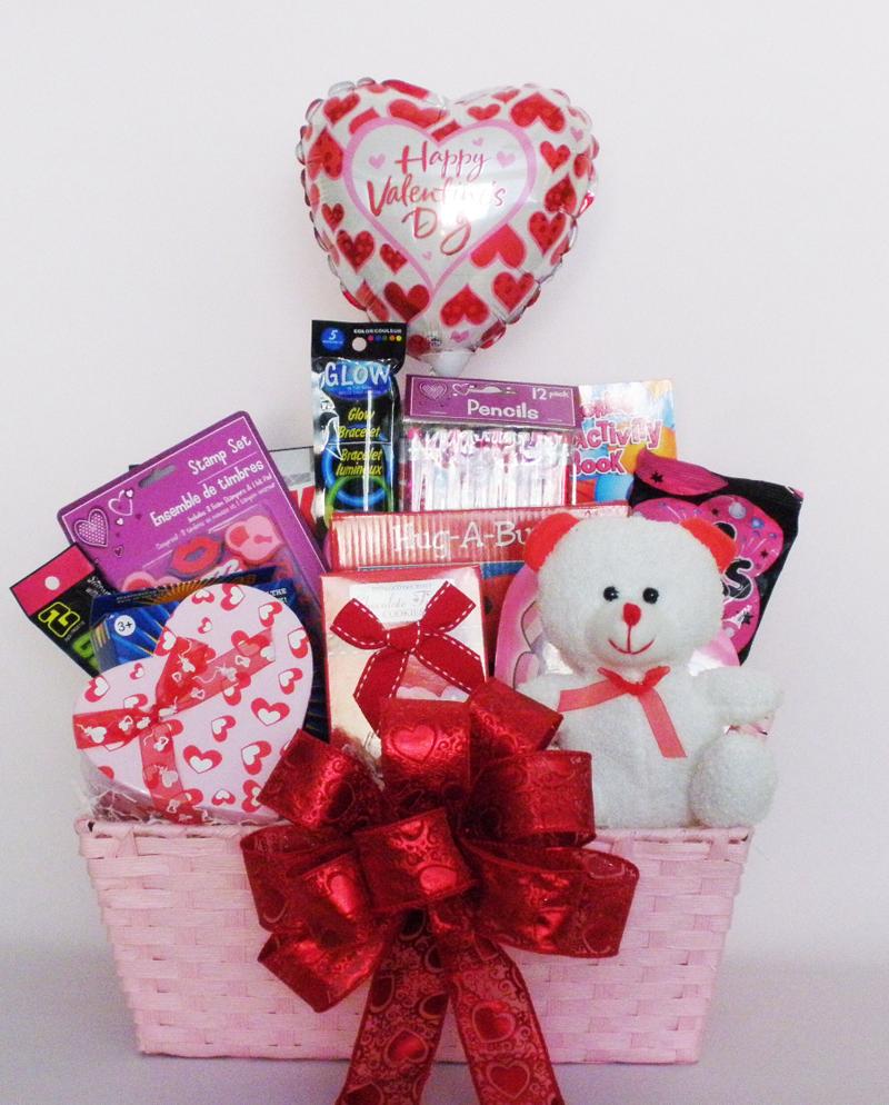 My Little Valentine Gift Basket For Kids Holiday Ideas Pinterest
