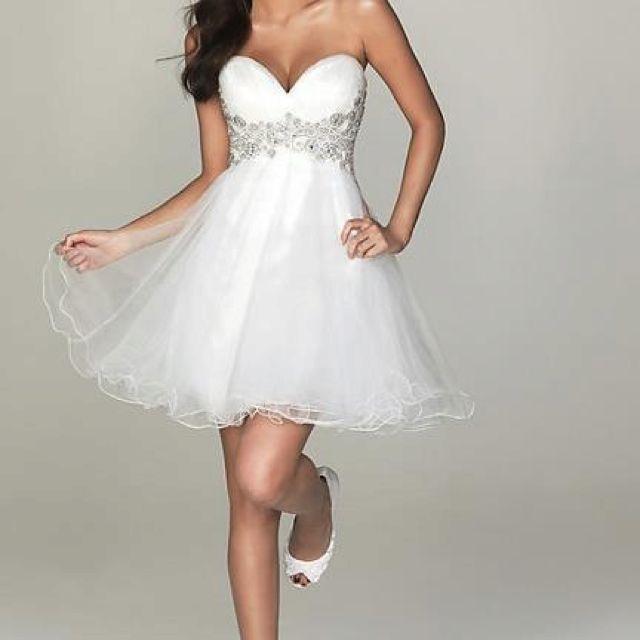 Short White Puffy Dress White Cocktail Dress Prom Dresses Short Homecoming Dresses
