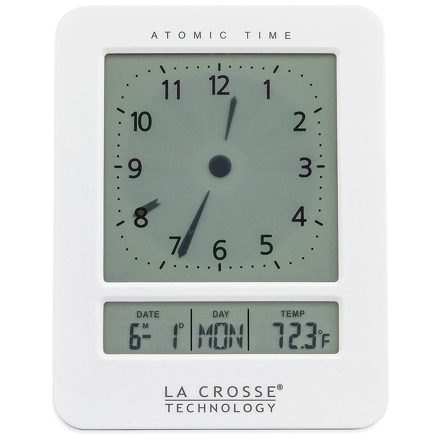 La Crosse Technology 617 1392w Atomic Digital Analog Style Alarm Clock White Be Sure To Check Out This Awesome Product Clock Atomic Wall Clock Alarm Clock