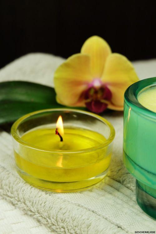 Massagekerzen selbst machen (mit Rezept) | Geschenkliebe.de