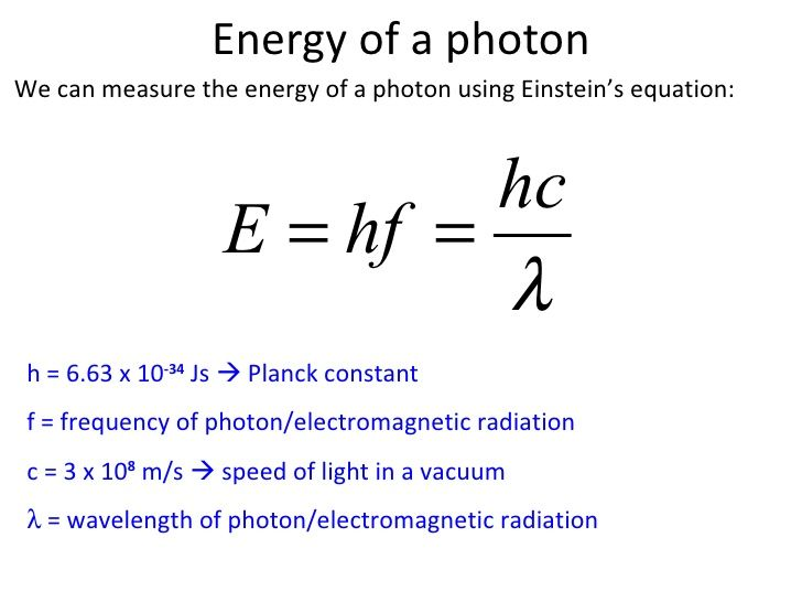 equation relating band gap energy and wavelength relationship