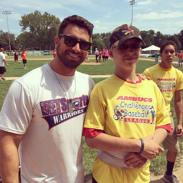 This is my Ambucs buddy, Dillon.  His family has come out to support our organization for five years straight now!  Him and his brother write me letters all the time.  They are a truly amazing family!